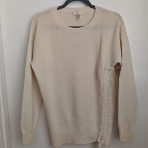 Joie - Cream cinched sweater - L